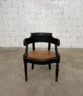 fauteuil-louis-philippe-bois-noir-cuir-cognac-patine-vintage-retro-5francs-1