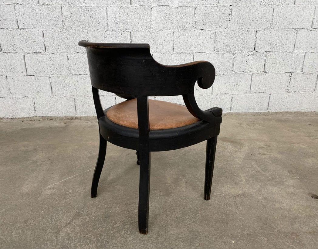 fauteuil-louis-philippe-bois-noir-cuir-cognac-patine-vintage-retro-5francs-5