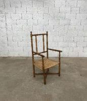 fauteuil-paille-bois-tourne-rustique-boheme-campagne-vintage-5francs-1