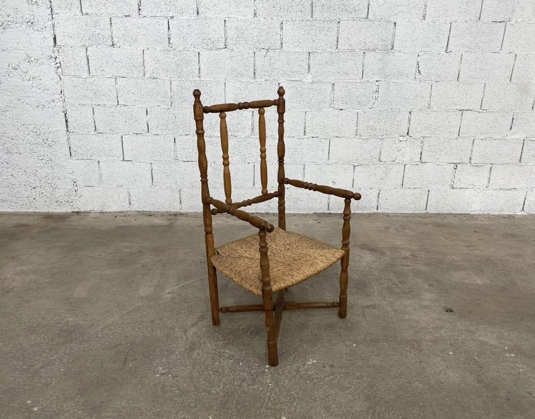 fauteuil-paille-bois-tourne-rustique-boheme-campagne-vintage-5francs-2