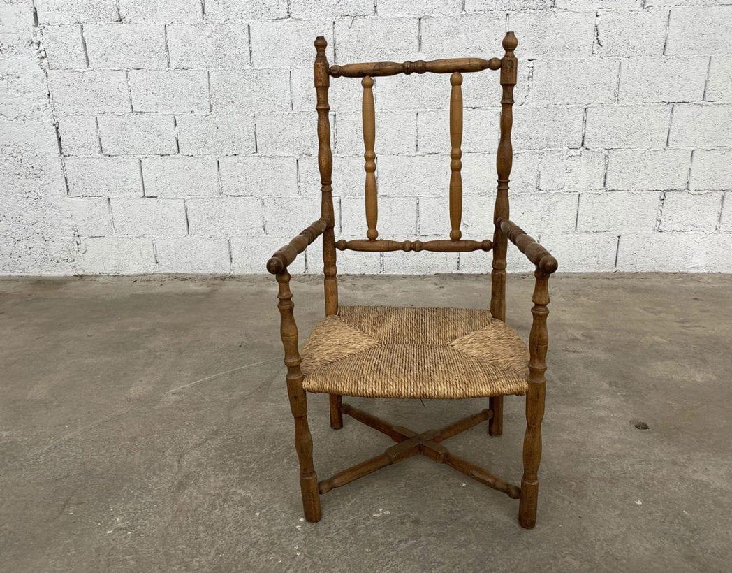fauteuil-paille-bois-tourne-rustique-boheme-campagne-vintage-5francs-3