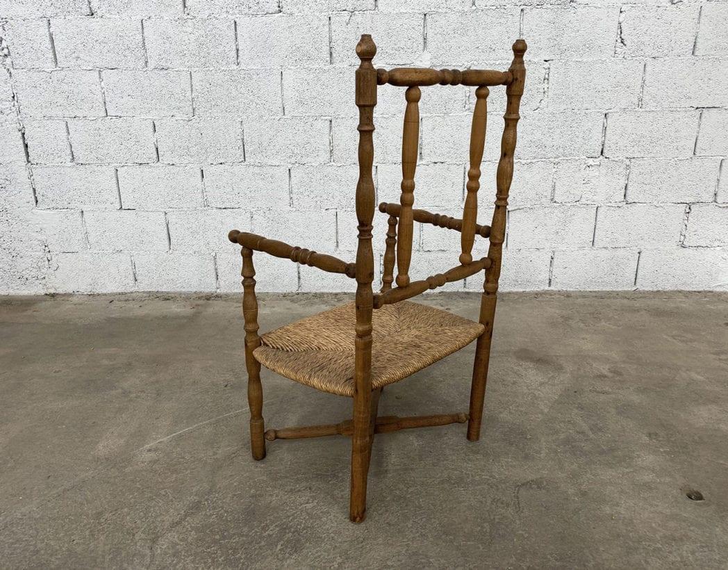 fauteuil-paille-bois-tourne-rustique-boheme-campagne-vintage-5francs-6