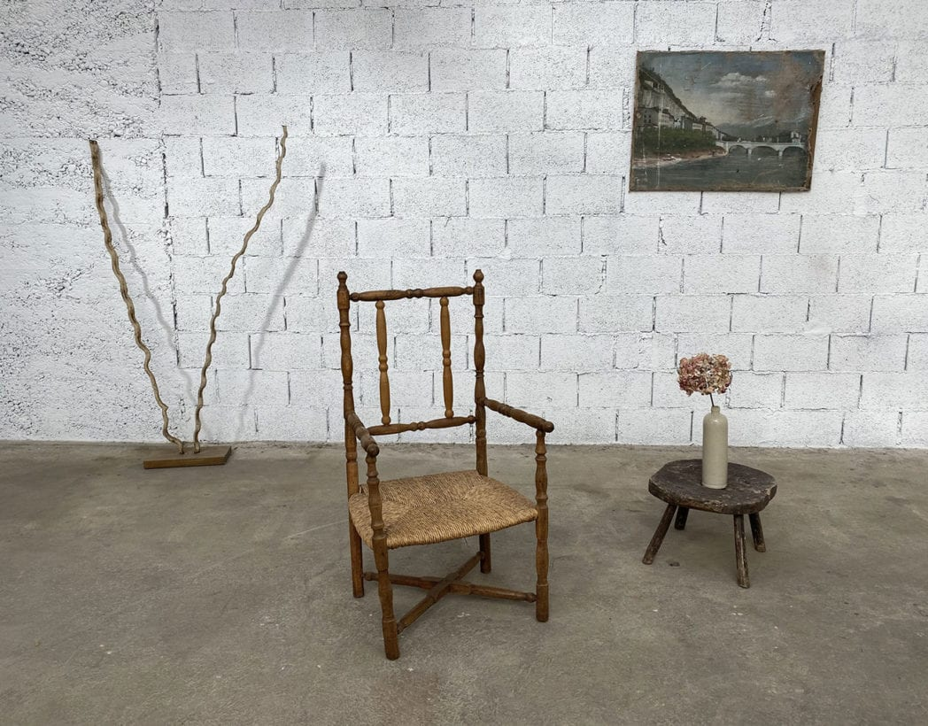 fauteuil-paille-bois-tourne-rustique-boheme-campagne-vintage-5francs-8