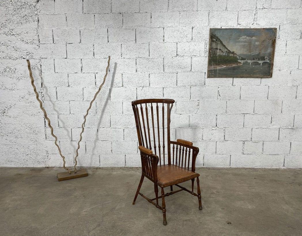 fauteuil-windsor-bois-cuir-patine-vintage-retro-5francs-1