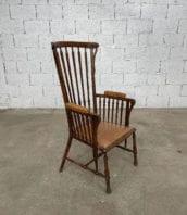 fauteuil-windsor-bois-cuir-patine-vintage-retro-5francs-2