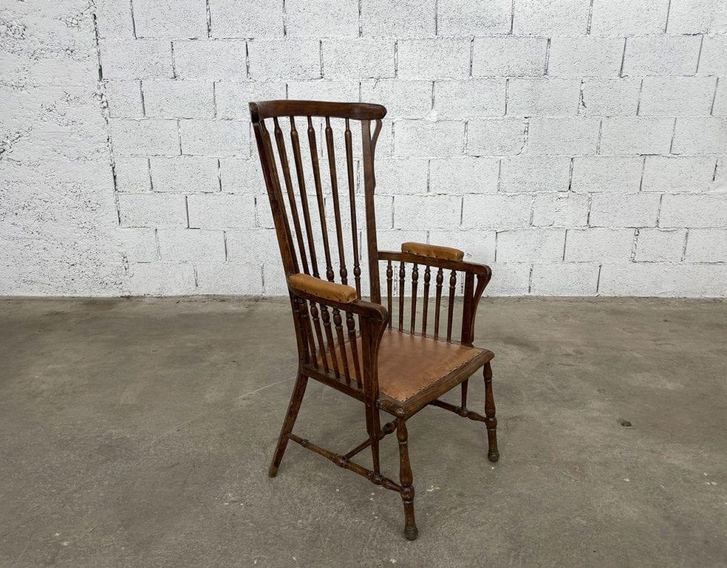 fauteuil-windsor-bois-cuir-patine-vintage-retro-5francs-3