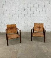 fauteuils-safari-acajou-cuir-marron-annees-60-5francs-1