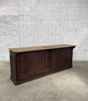 ancien-grand-comptoir-bar-banque-bois-massif-vintage-meuble-de-metier-5francs-4