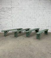 lot-anciens-bancs-ferme-patine-verte-deco-boheme-rustique-vintage-5francs-1